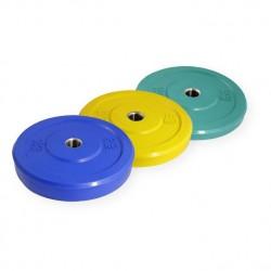 Pack discos bumper en color con casquillo de acero