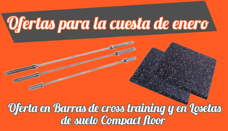 Oferta en barras de cross training y losetas de suelo