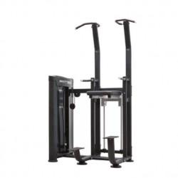 Máquina para ejercicios de dominadas con asistencia.