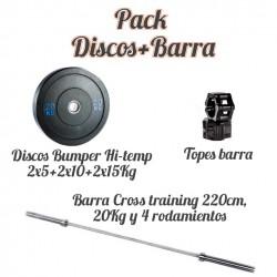 Pack Discos+Barra cross...